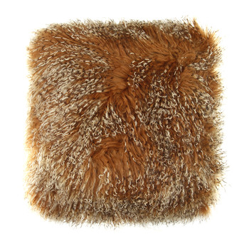 Tibetan Sheepskin Pillow - 40x40cm - Sunset
