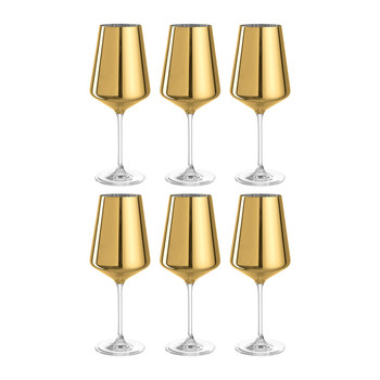 D'Oro Wine Glass - Set of 6 - Gold