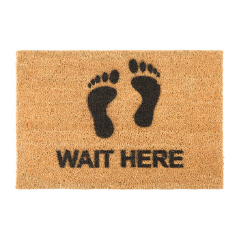 Wait Here Door Mat