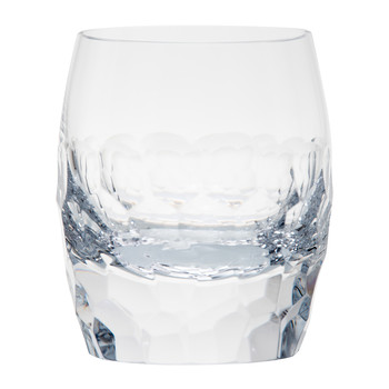 Bar Old Fashioned Tumbler - Cut and Polished Pebbles - Clear