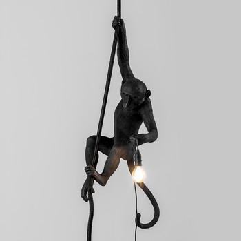 Monkey Ceiling Lamp - Black