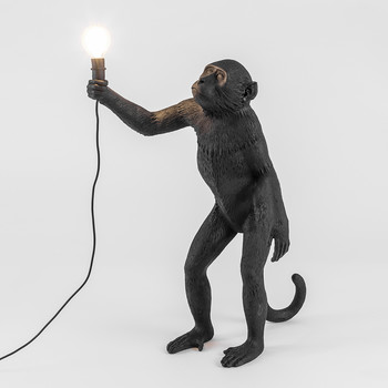 Monkey Lamp - Standing - Black