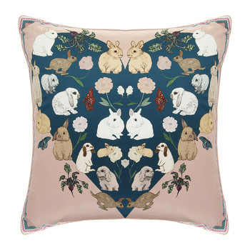 Bashful Bunnies Cushion - 42x42cm