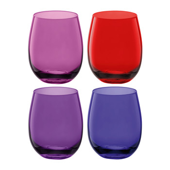 Coro Water/Wine Tumblers - Set of 4 - Berry Assorted