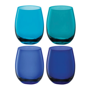 Coro Water/Wine Tumblers - Set of 4 - Lagoon Assorted