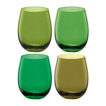 Coro Water/Wine Tumblers - Set of 4 - Leaf Assorted