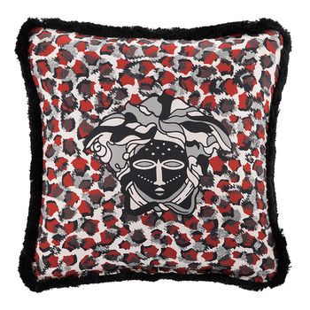 Vulu Pillow - 50x50cm - Red/Grey