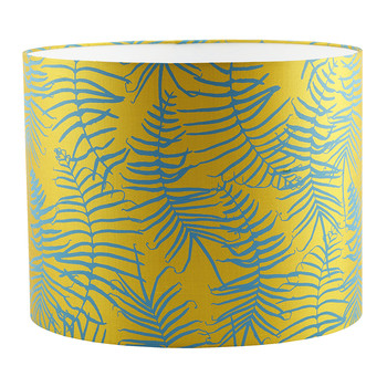 Feather Fern Lamp Shade - Tumeric/Kingfisher