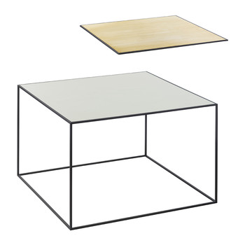 Twin Table - Misty Green & Brass