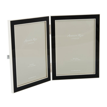 "Double Enamel Photo Frame - 5x7"" - Black"