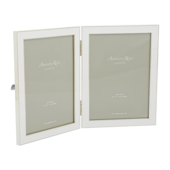 "Double Enamel Photo Frame - 5x7"" - White"