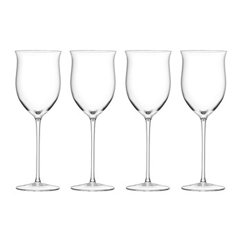 Wine Rose Glass Set of 4