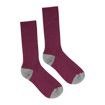 Ladies Tribeca Cashmere Socks - Wildberry