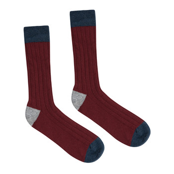 Men's Hinton Cashmere Socks - Russet Red