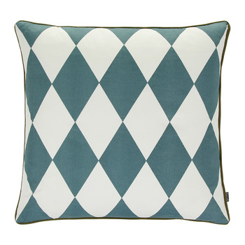Large Geometry Pillow - 50x50cm - Petrol