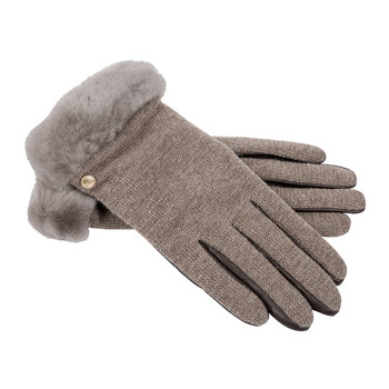Women's Shorty Fabric Gloves - Stormy Grey
