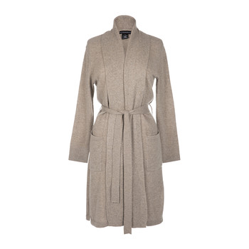 Women's Cashmere Jersey Robe - Taupe
