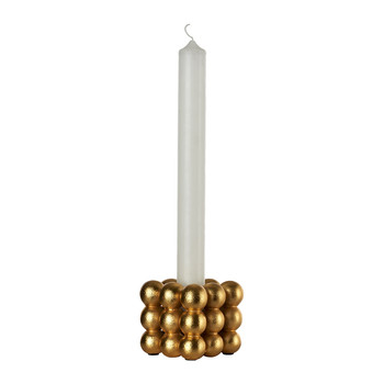 Stacked Gold Balls Candlestick