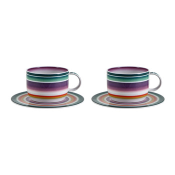 Zig Zag - Teetasse & Untertasse - 2er-Set
