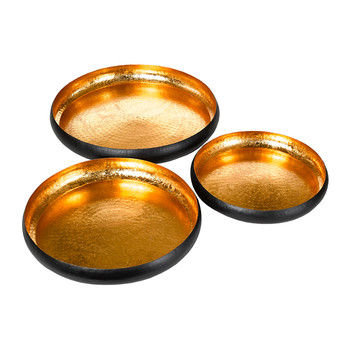 Lotus Leaf Decorative Tray - Set of 3 - Copper