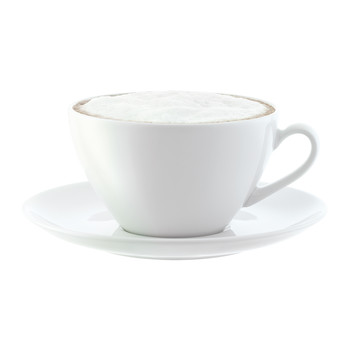 Dine Curved Cappuccino Cups & Saucers - Set of 4