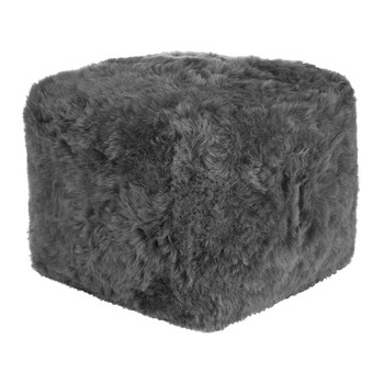 Sheepskin Pouf - Grey