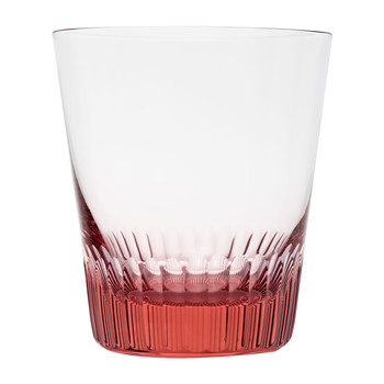 Conus Double Old Fashioned Tumbler - Cut Grooves - Rosalin
