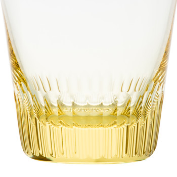 Conus Double Old Fashioned Tumbler - Cut Grooves - Eldor