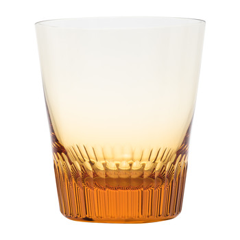 Conus Old Fashioned Tumbler - Cut Grooves - Topaz
