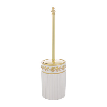Impero Toilet Brush - White & Antique Gold