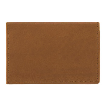 Leather Business Card Holder - Tan