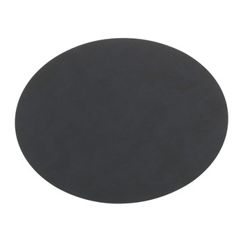 Table Mat Oval - Black