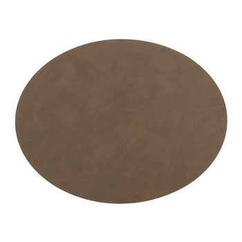 Oval Table Mat - Brown