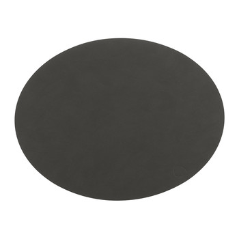 Table Mat Oval - Coal