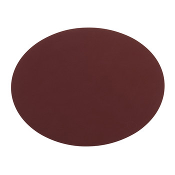 Oval Table Mat - Red