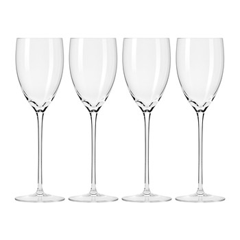 Droplet Handmade White Wine Glass - Set of 4