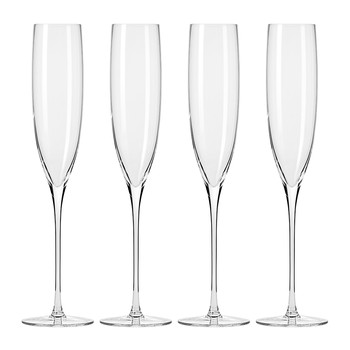 Droplet Handmade Champagne Glass - Set of 4
