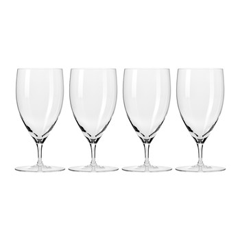 Droplet Handmade Glass Goblet - Set of 4