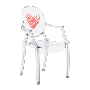 Children's Lou Lou Ghost Chair - Heart