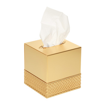 Firenze Tissue Box - Full Antique Gold