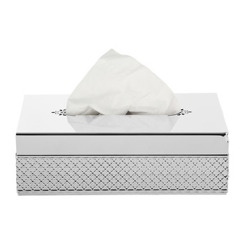 Firenze Rectangular Tissue Box - Chrome
