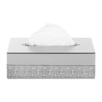 Marbella Rectangular Tissue Box - Chrome