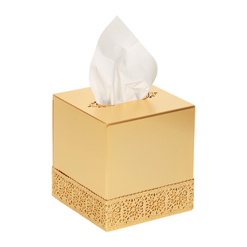 Marbella Tissue Box - Full Antique Gold