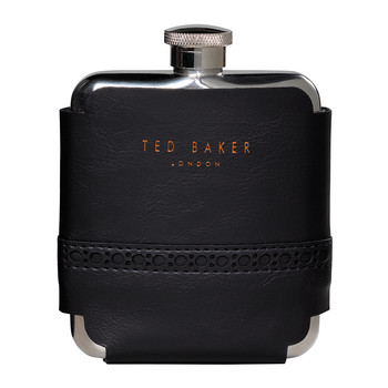 Brogue Hip Flask - Black