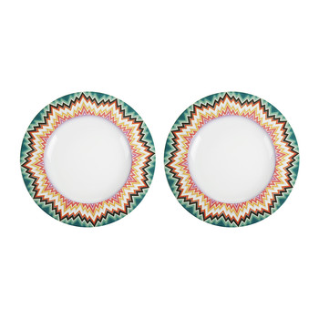 Zig Zag - 27cm Dinner Plate - Set of 2