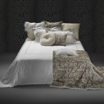 New Gold Bed Set - Super King - White
