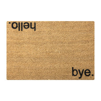 Hello/Bye Door Mat