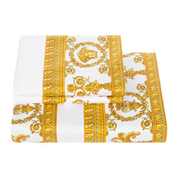 Barocco&Robe Quilt Cover - White/Gold - Super King