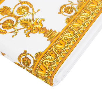 Barocco&Robe Flat Sheet - 270x300cm - White/Gold