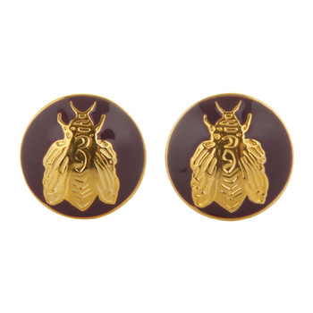 The Napoleon Bee Cufflinks - Purple